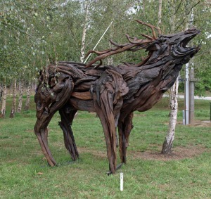 Roaring Stag - Sculpture in the Country